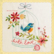 Birdcage embroidery – 'Sew Happy' Paper Rose