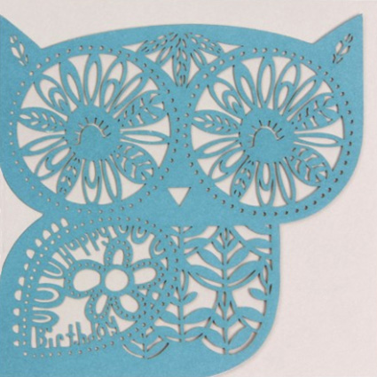 Laser cut owl – Paperchase