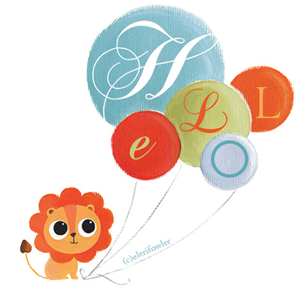 Lion and balloons – New prints