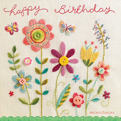 Meadow flowers embroidery – 'Sew Happy' Paper Rose