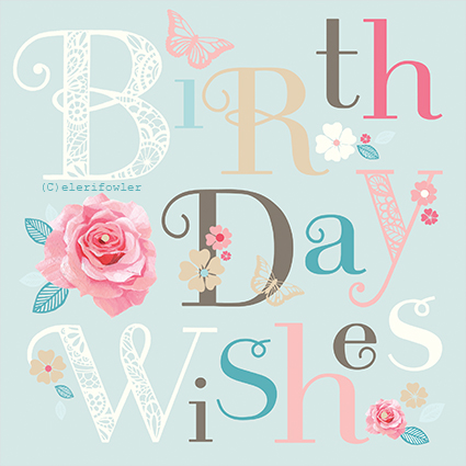 Birthday wishes typography – Barnardo's
